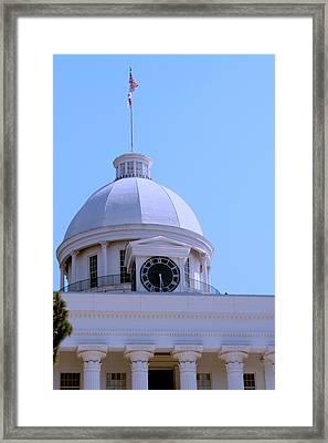 Alabama State Capital Building_clock Framed Print by Lesa Fine