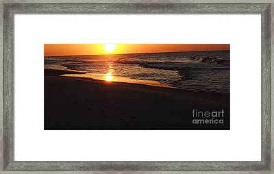 Alabama Sunset At The Beach Framed Print by Deborah DeLaBarre