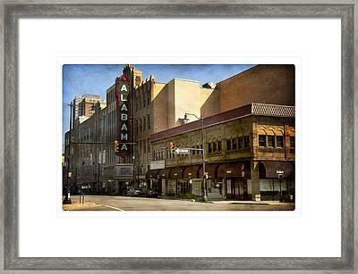 Alabama Theatre Framed Print by Davina Washington