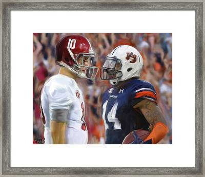Alabama Vs Auburn Framed Print by Mark Spears