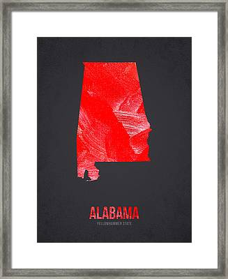 Alabama Yellowhammer State Framed Print by Aged Pixel