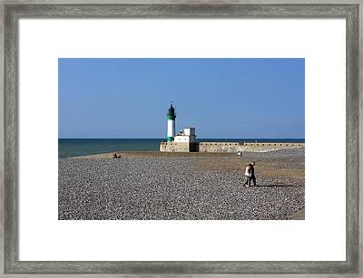 Alabaster Coast Lighthouse Framed Print by Aidan Moran