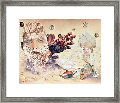 Aladdin And The Magic Lamp Framed Print by Nekoda  Singer