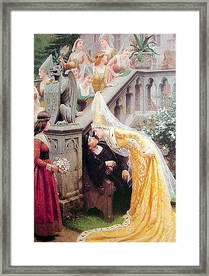 Alain Chartier Framed Print by Edmund Blair Leighton