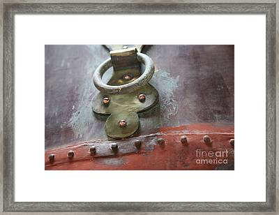 Framed Print featuring the photograph Alambic Brass Detail by Lynn England