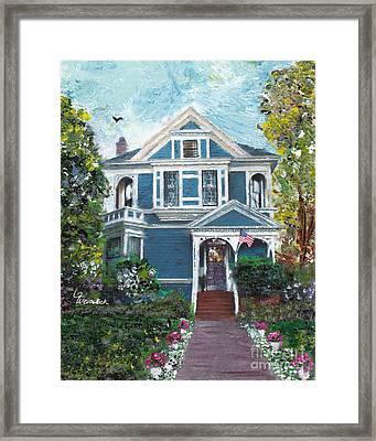 Alameda 1887 - Queen Anne Framed Print by Linda Weinstock