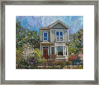 Alameda 1892 Queen Anne Framed Print by Linda Weinstock