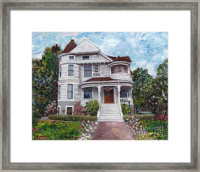 Alameda 1897 - Queen Anne Framed Print by Linda Weinstock