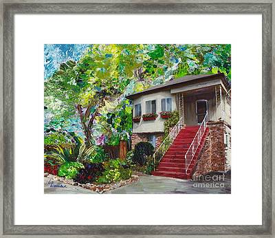 Framed Print featuring the painting Alameda 1908 Duplex by Linda Weinstock