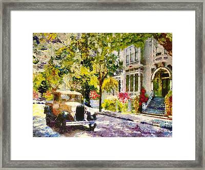 Alameda  Afternoon Drive Framed Print by Linda Weinstock