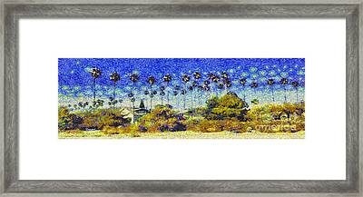 Alameda Famous Burbank Palm Trees Framed Print