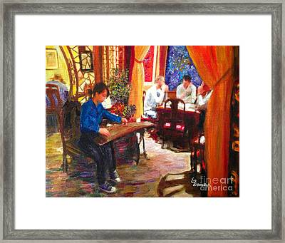 Guzheng Framed Print
