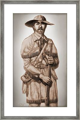 Alamo Defender Frontiersman Framed Print by Dan Terry