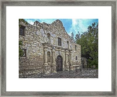 Alamo Hdr Framed Print