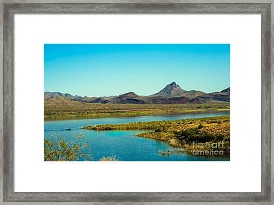 Alamo Lake Framed Print