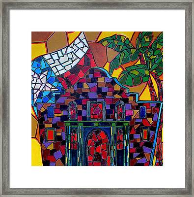 Alamo Mosaic Framed Print by Patti Schermerhorn