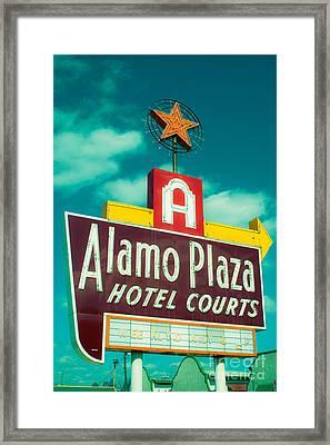 Alamo Plaza Hotel Dallas Framed Print by Sonja Quintero