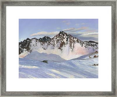 Alamoots Winter Mountains Framed Print by Cecilia Brendel