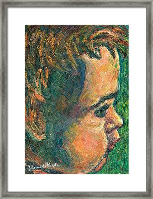 Alan By Our Window Framed Print by Kendall Kessler