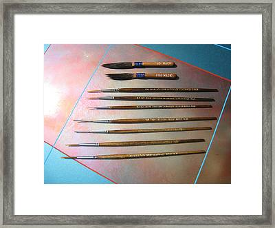 Alan Johnson Signature Brushes  Framed Print