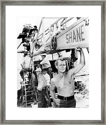 Alan Ladd In Shane  Framed Print