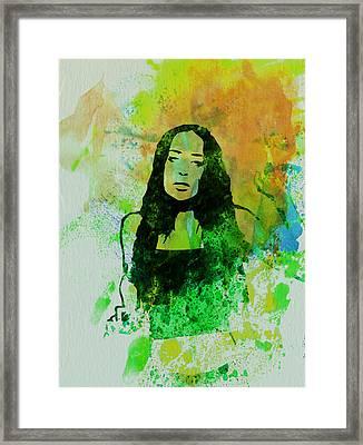 Alanis Morissette Framed Print by Naxart Studio