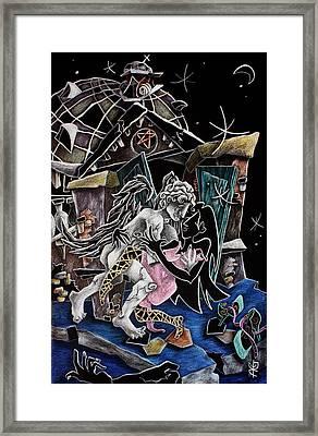 Alas De Tango - Musica Leon Gieco - Contemporary Art Venice Framed Print