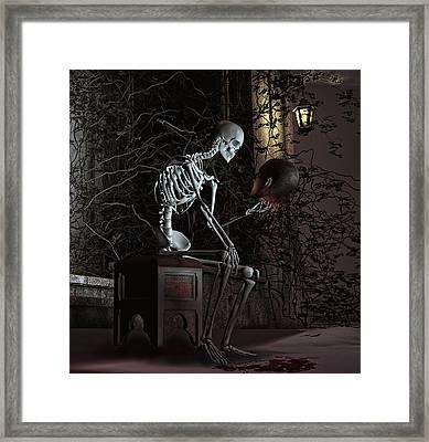 Alas Poor Yorick Framed Print