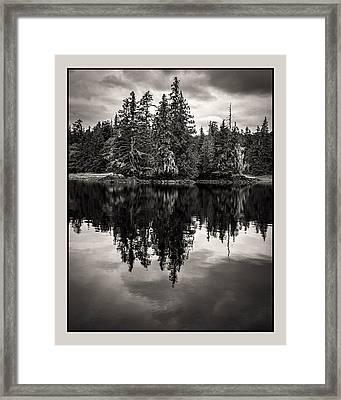 Alaska 2534 Warmbw Framed Print by Deidre Elzer-Lento