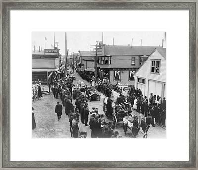 Alaska 4th Of July, 1915 Framed Print