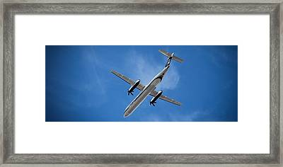 Airplanes Framed Print featuring the photograph Alaska Airlines Turboprop Wide Version by Aaron Berg