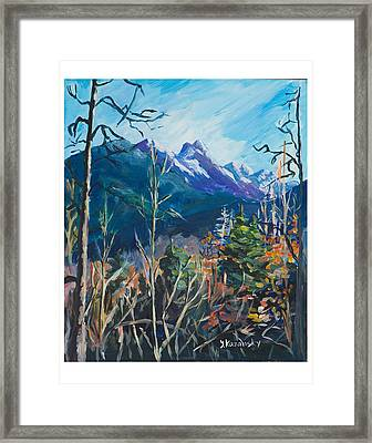 Alaska Autumn Framed Print by Yulia Kazansky