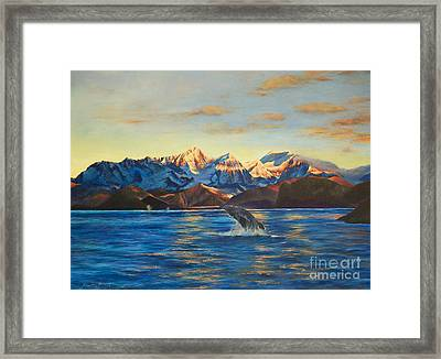 Alaska Dawn Framed Print by Jeanette French