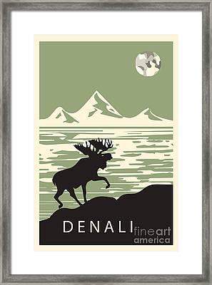 Alaska Denali National Park Poster Framed Print