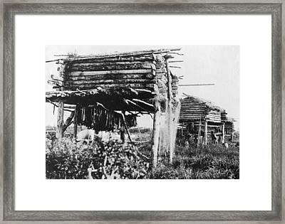 Alaska Fish Drying, C1917 Framed Print by Granger