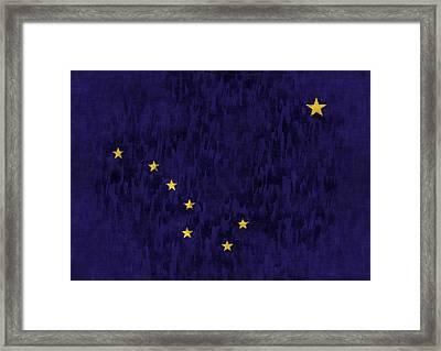 Alaska Flag Framed Print by World Art Prints And Designs