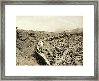 Alaska Gold Mine, C1898 Framed Print