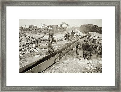 Alaska Gold Mining, C1898 Framed Print