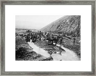 Alaska Gold Mining, C1900 Framed Print