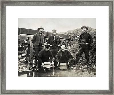 Alaska Gold Rush, 1890s Framed Print