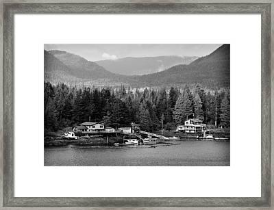 Alaska Homestead Framed Print by Davina Washington