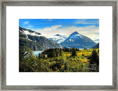 Framed Print featuring the photograph Alaska In All Her Glory by Dyle   Warren