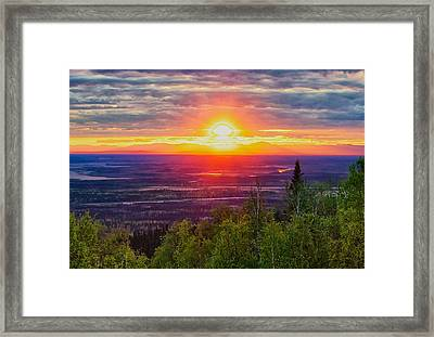 Alaska Land Of The 11 Pm Sun Framed Print by Michael Rogers