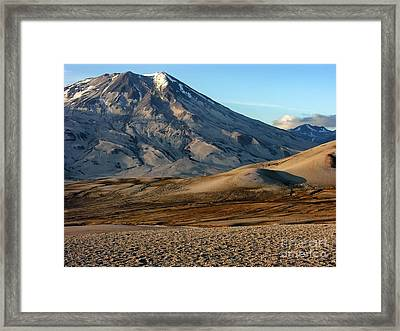 Alaska Landscape Scenic Mountains Snow Sky Clouds Framed Print by Paul Fearn