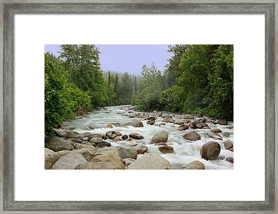 Alaska - Little Susitna River Framed Print by Kim Hojnacki