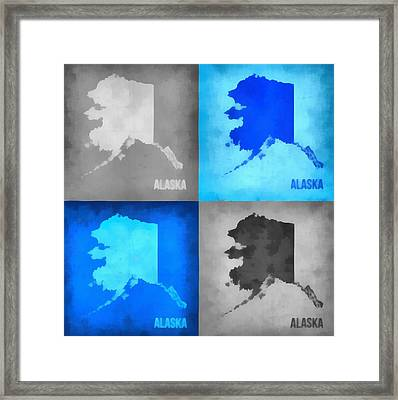 Alaska Map Art Framed Print by Dan Sproul