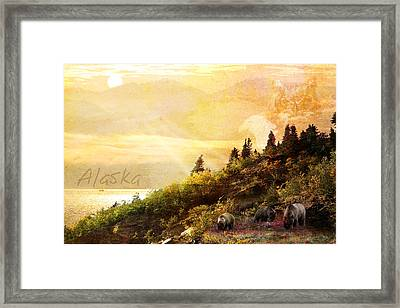 Alaska Montage Framed Print by Ann Lauwers