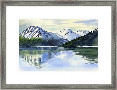 Alaska Mountain Reflections Framed Print by Sharon Freeman