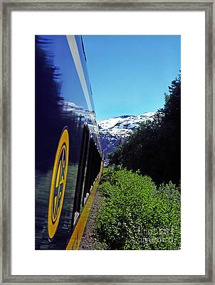 Alaska Railroad Anchorage To Whittier Route Framed Print by Thomas R Fletcher