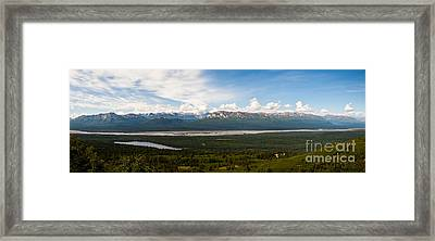 Alaska Range Framed Print by Chris Heitstuman